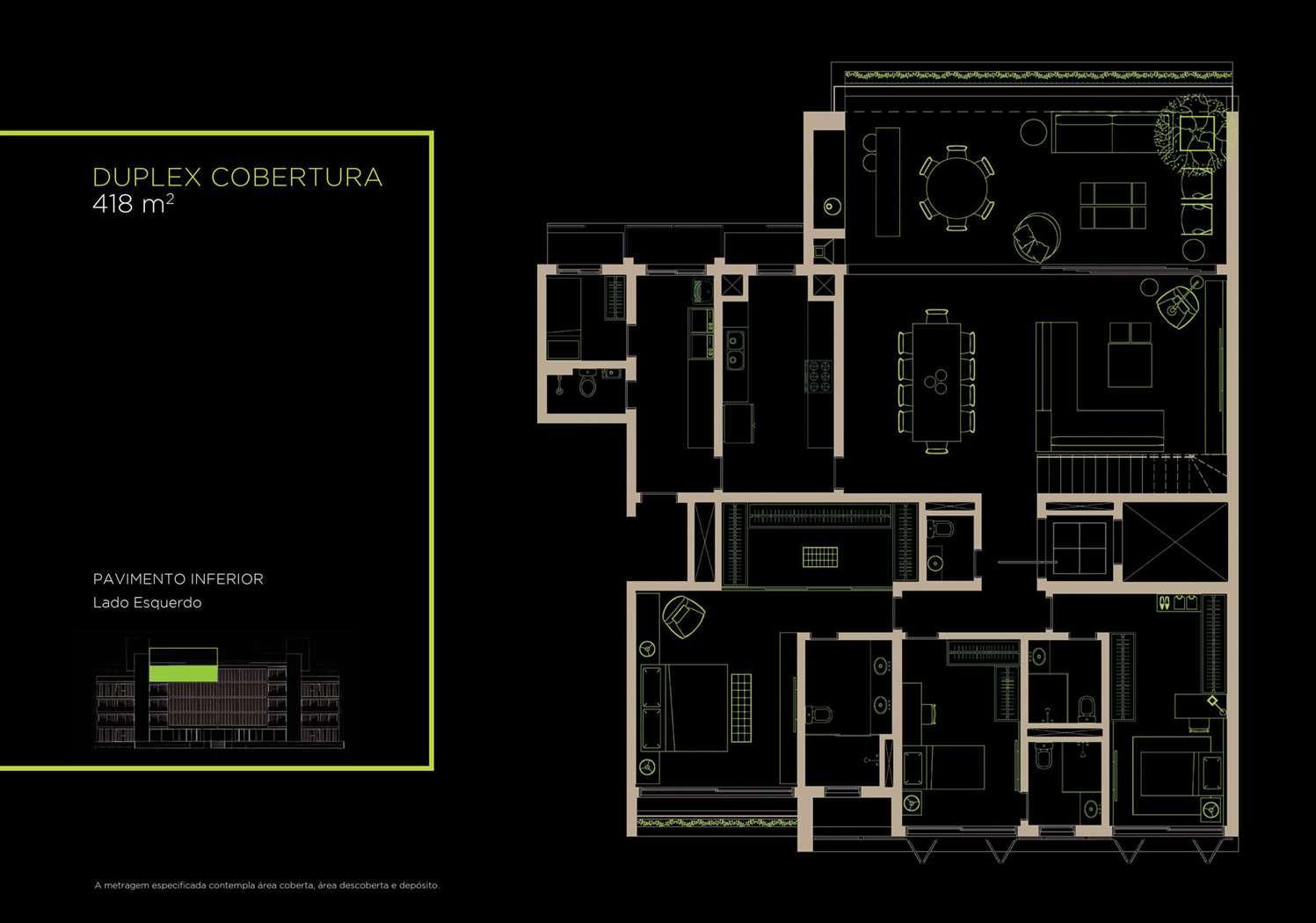 Duplex Cobertura 418m²   Inferior