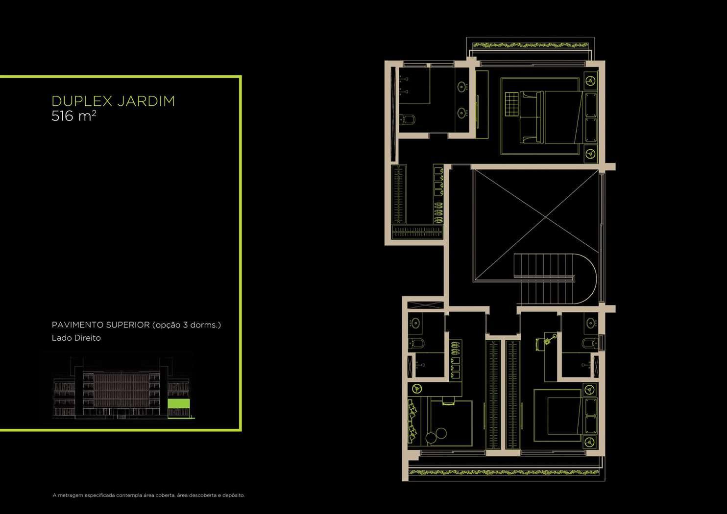 Duplex Jardim 516m²   Opção 3 Dorms.