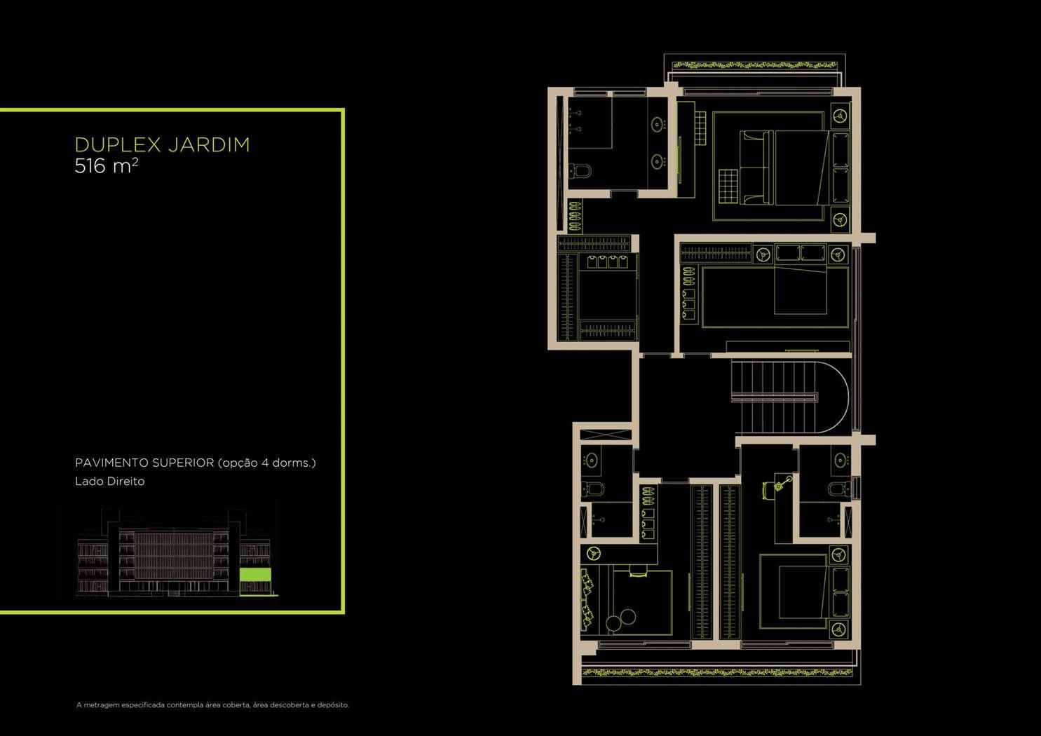 Duplex Jardim 516m²   Opção 4 Dorms.