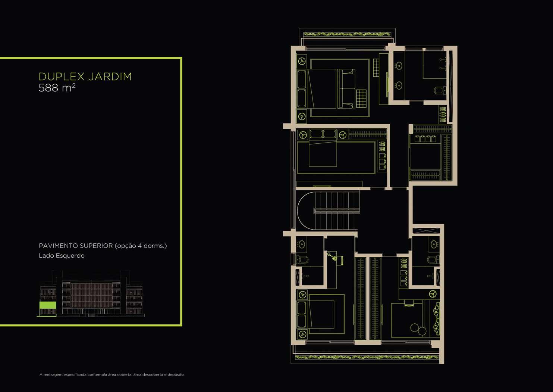 Duplex Jardim 588m²   Opção 4 Dorms.