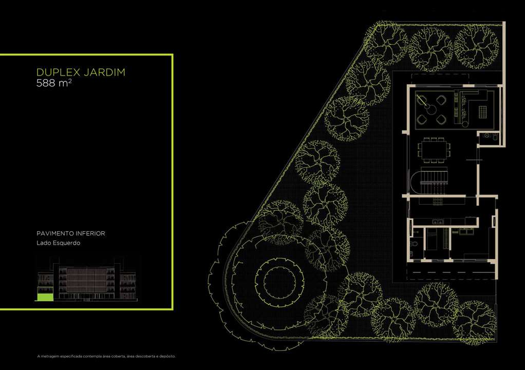 Duplex Jardim 588m²   Inferior | Arruda 168 – Apartamentono  Alto de Pinheiros - São Paulo - São Paulo
