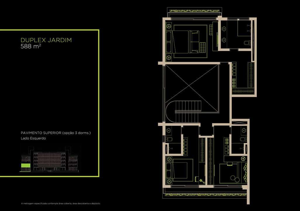 Duplex Jardim 588m²   Opção 3 Dorms. | Arruda 168 – Apartamentono  Alto de Pinheiros - São Paulo - São Paulo