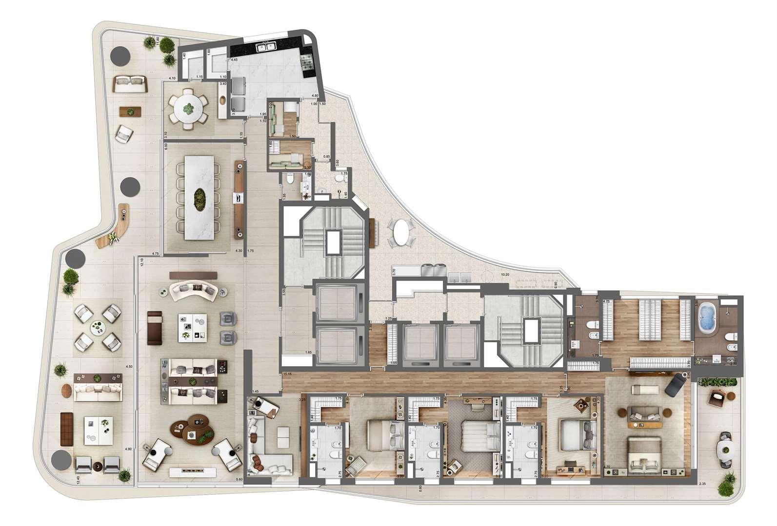 Heritage Cyrela de 4 a 5 dormitórios em Itaim Bibi, São Paulo - SP