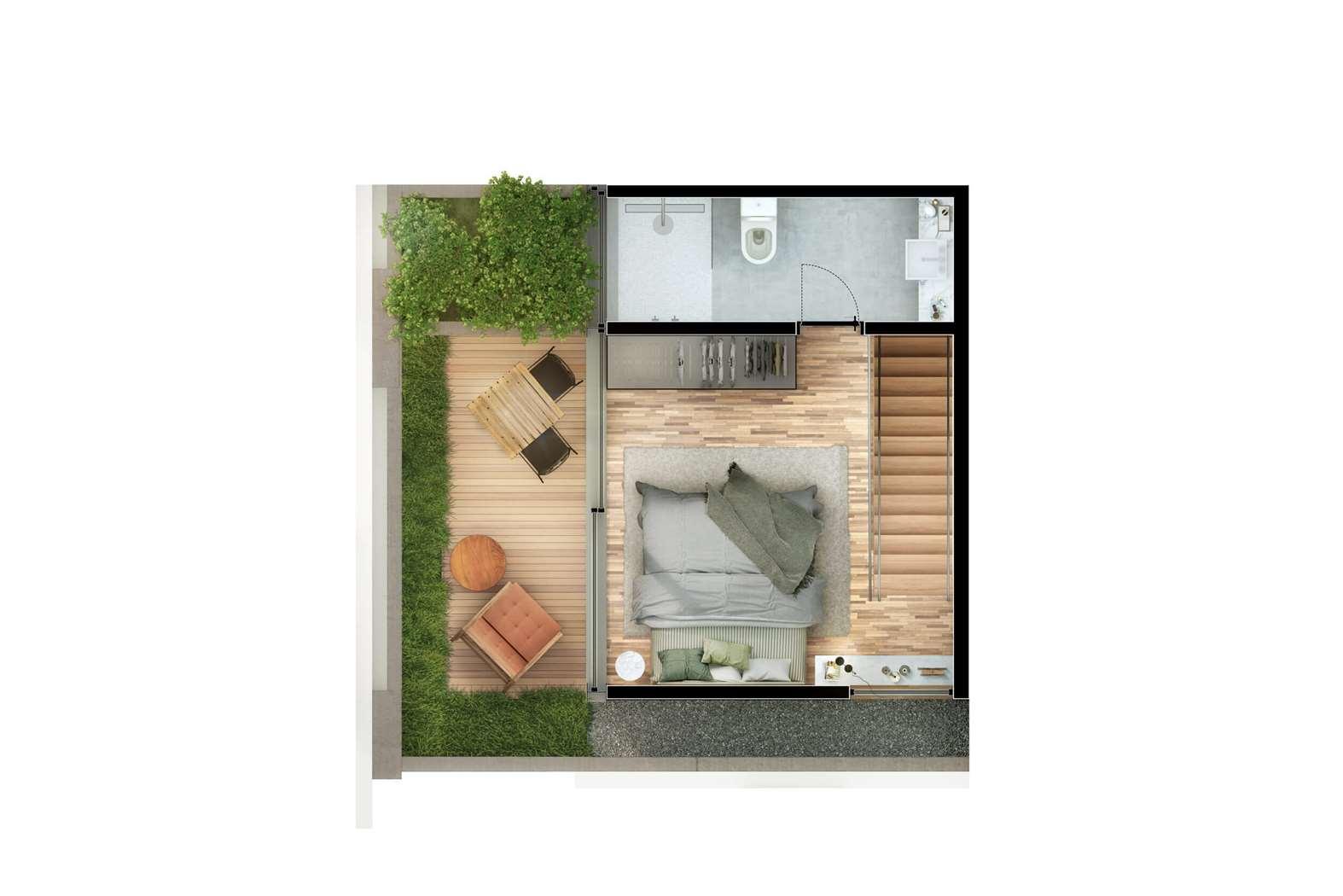 Cobertura Duplex 2 Suítes  81m² Pavimento Superior