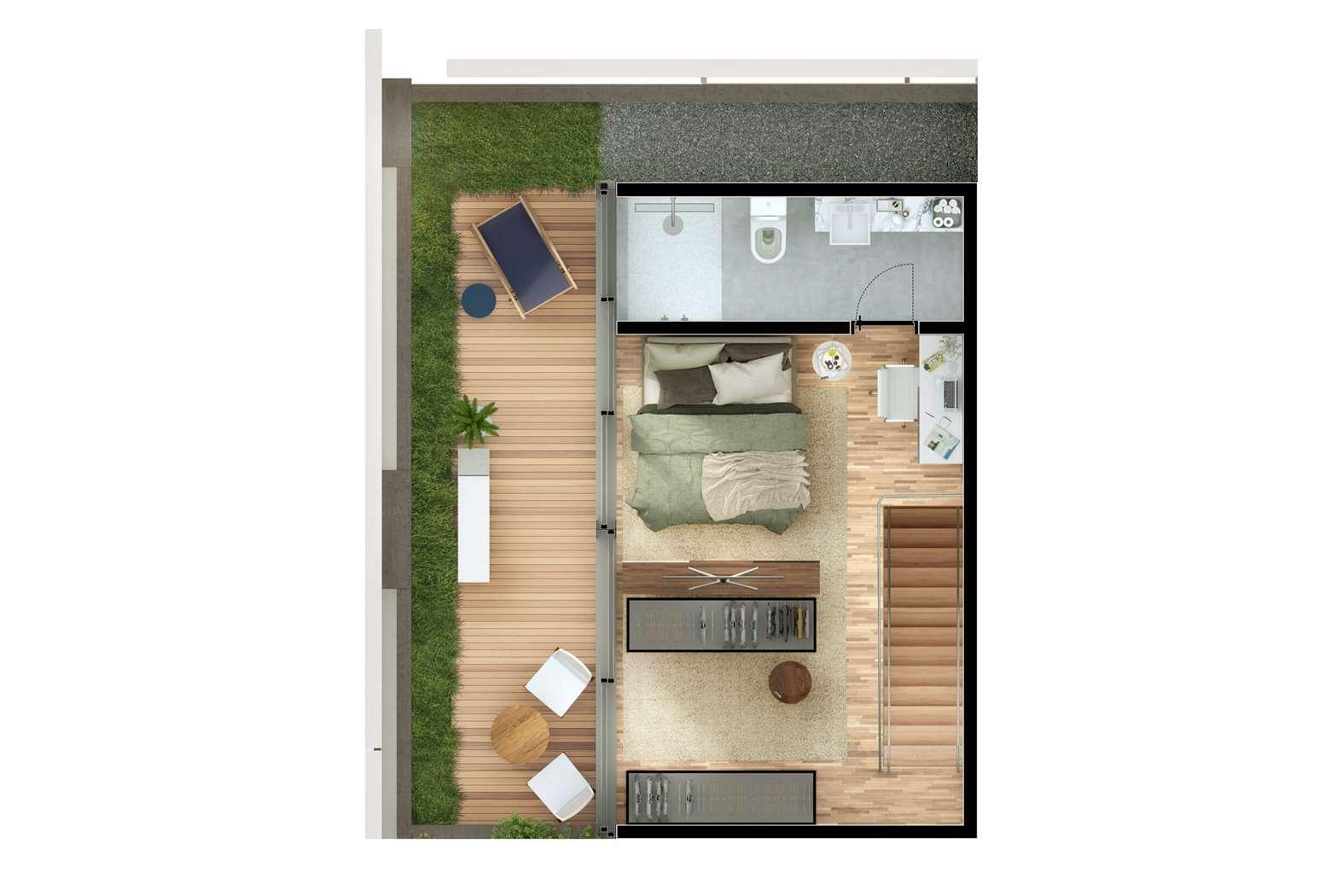 Cobertura Duplex 3 Dormitórios   115m² Pavimento Superior