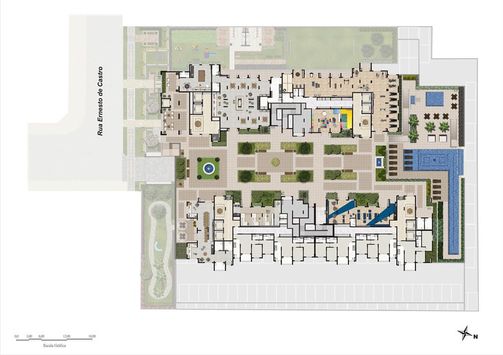 Implantação | Praças da Cidade - Praça Mooca – Apartamentona  Mooca - São Paulo - São Paulo