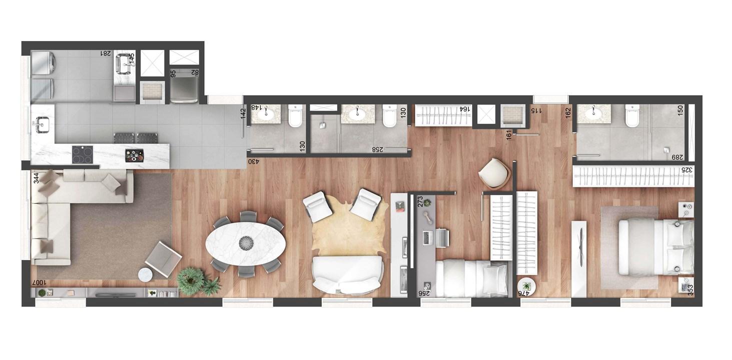 2 dormitorios 108m²   NY, 205 – Apartamentono  Auxiliadora - Porto Alegre - Rio Grande do Sul