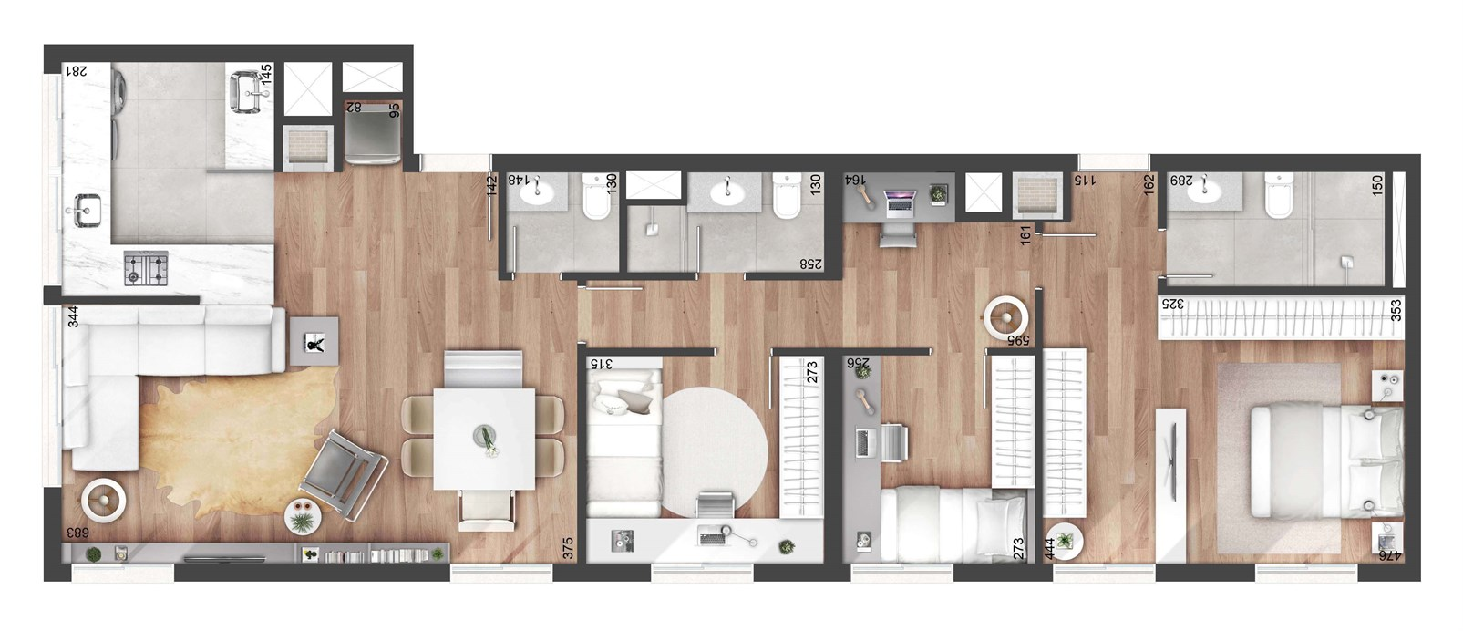 3 dormitorios 108m²   NY, 205 – Apartamentono  Auxiliadora - Porto Alegre - Rio Grande do Sul