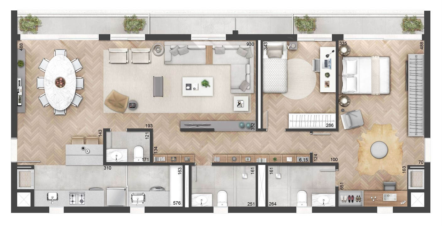 3 Dormitórios 127m² com Living Estendido   NY, 205 – Apartamentono  Auxiliadora - Porto Alegre - Rio Grande do Sul