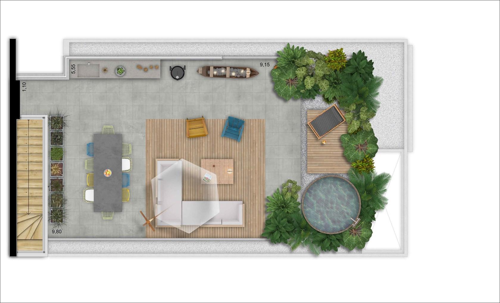 Cobertura Superior 169 m 2 dorms | 2 vagas | Depósito  privativo