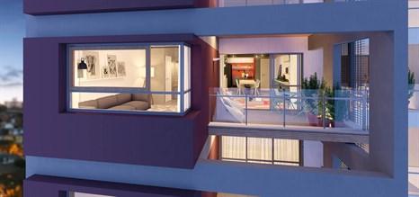Perspectiva ilustrada do apartamento de 79 m