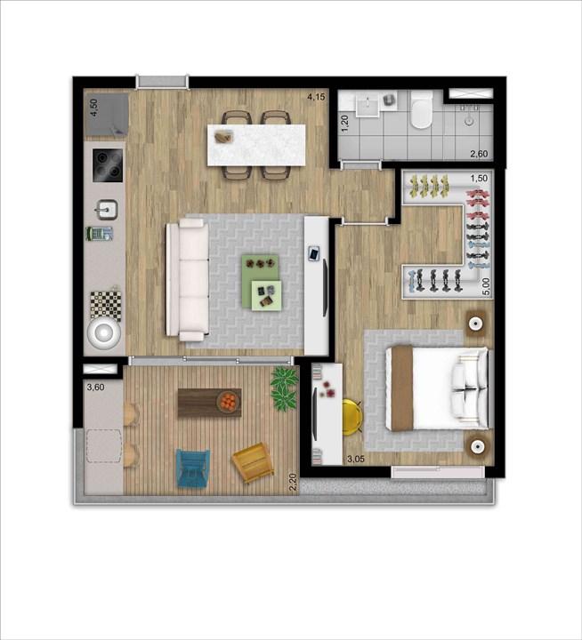 LOFT 52 M 1 DORM | 2 VAGAS | DEPOSITO PRIVATIVO | MOOU – Apartamentona   Vila Madalena - São Paulo - São Paulo