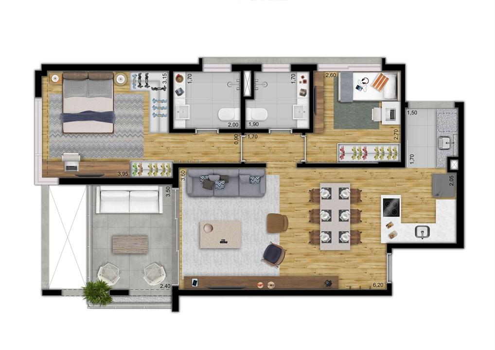 LOFT 79 M 2 DORMS | 2 VAGAS | DEPOSITO PRIVATIVO | MOOU – Apartamentona   Vila Madalena - São Paulo - São Paulo