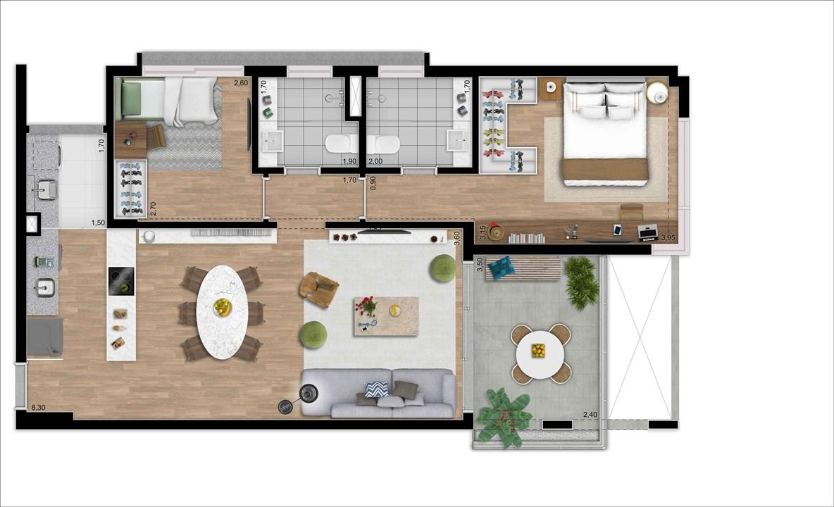 LOFT 82 m 2 DORMS | 2 VAGAS | DEPOSITO PRIVATIVO | MOOU – Apartamentona   Vila Madalena - São Paulo - São Paulo