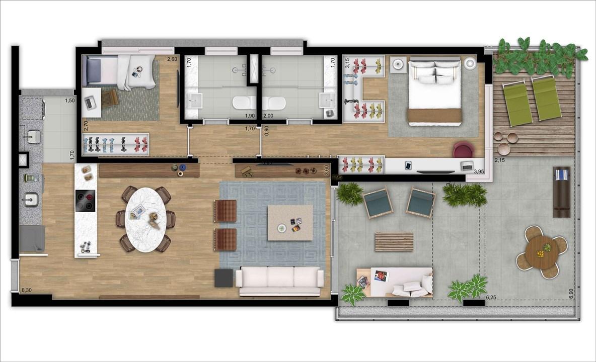 LOFT TERRAÇO 105 M 2 DORMS | 2 VAGAS | DEPOSITO PRIVATIVO | MOOU – Apartamentona   Vila Madalena - São Paulo - São Paulo