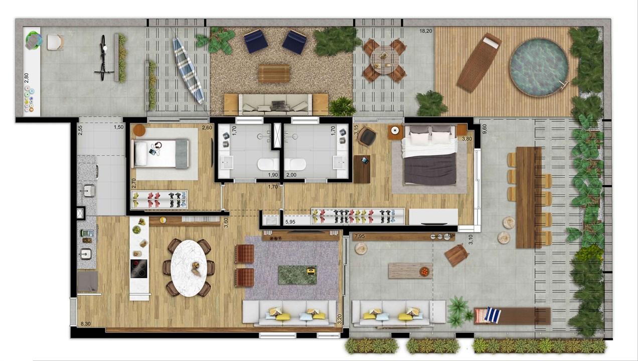 LOFT TERRACO 172 M 2 DORMS | 2 VAGAS | DEPOSITO PRIVATIVO | MOOU – Apartamentona   Vila Madalena - São Paulo - São Paulo