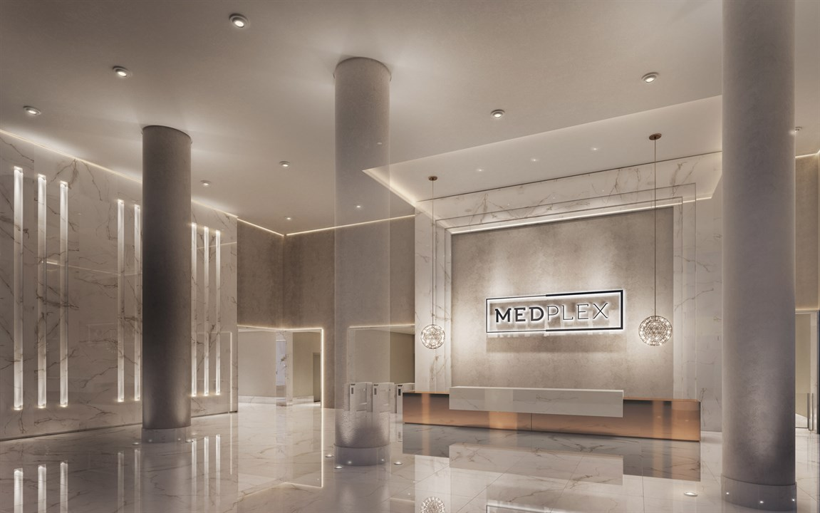 Perspectiva ilustrada do Lobby