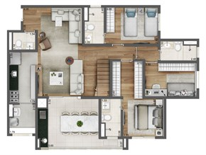 Duplex Inferior - 164m²