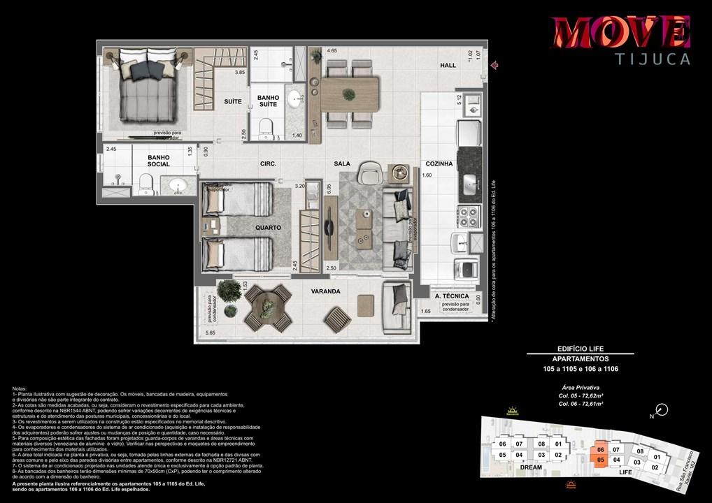 2 Quartos 72m | Move Tijuca – Apartamentona  Tijuca - Rio de Janeiro - Rio de Janeiro