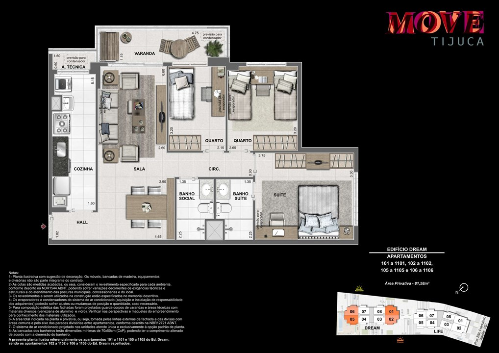 3 Quartos 81m | Move Tijuca – Apartamentona  Tijuca - Rio de Janeiro - Rio de Janeiro