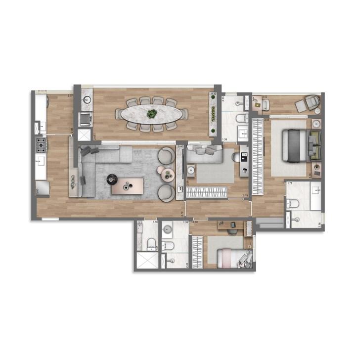 115 Ampliado m² | Nativ Tatuapé – Apartamentono  Tatuapé - São Paulo - São Paulo