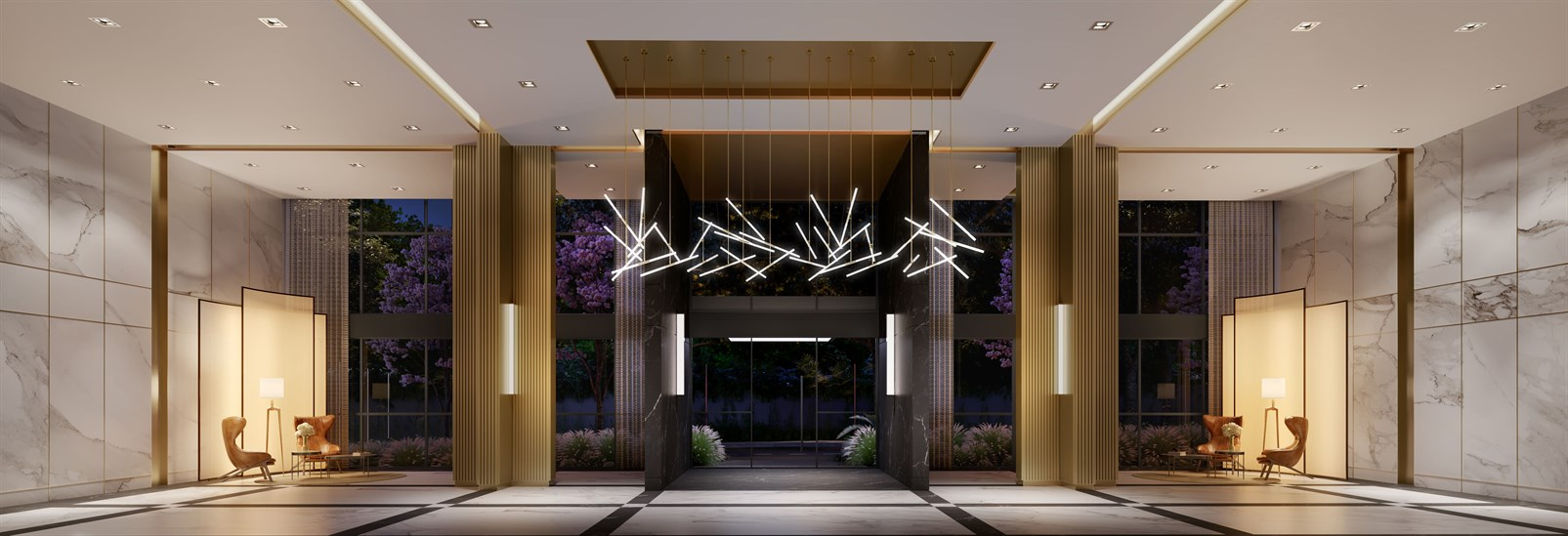 The Residences | Lobby Noturno