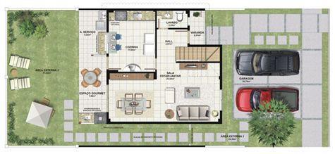 Planta casa A 120,42 m² - inferior | Aldeia Parque - Itatiaia – Casa na  Colina de Laranjeiras - Serra - Espírito Santo