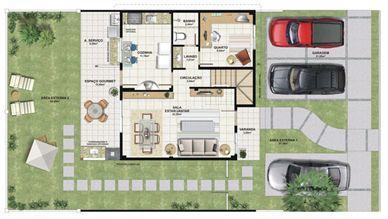 Planta casa B 140,21 m² - inferior | Aldeia Parque - Itatiaia – Casa na  Colina de Laranjeiras - Serra - Espírito Santo