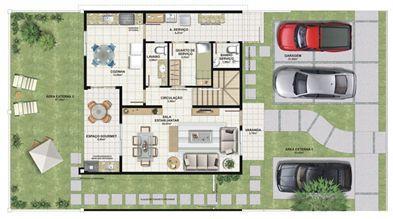 Planta casa C 165,29 m² - inferior | Aldeia Parque - Itatiaia – Casa na  Colina de Laranjeiras - Serra - Espírito Santo