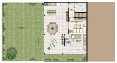 Planta casa E 210,87 m² - pavimento gourmet | Aldeia Parque - Itatiaia – Casa na  Colina de Laranjeiras - Serra - Espírito Santo