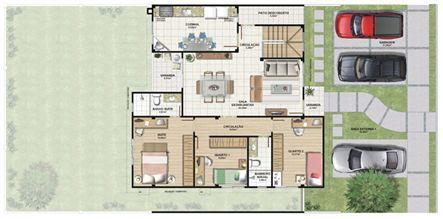Planta casa E 210,87 m² - térreo | Aldeia Parque - Itatiaia – Casa na  Colina de Laranjeiras - Serra - Espírito Santo