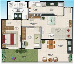Planta Térreo 2 quartos - 65 m² | Aldeia Parque - Itaúna – Apartamento na  Colina de Laranjeiras - Serra - Espírito Santo