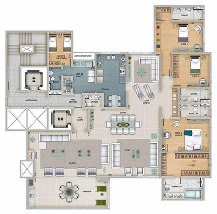 Edifício Apolo - Planta opc¸a~o do 1º ao 16º pavimento | Olympus - Apolo e Athena – Apartamentona  Vila da Serra - Nova Lima - Minas Gerais