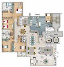 Edifício Athena - Planta do 1º ao 16º pavimento | Olympus - Apolo e Athena – Apartamento na  Vila da Serra - Nova Lima - Minas Gerais
