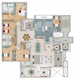 Edifício Athena - Planta do 18º, 20º e 22º pavimento | Olympus - Apolo e Athena – Apartamento na  Vila da Serra - Nova Lima - Minas Gerais