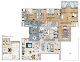 Edifício Zeus - Planta do 17º, 19º e 21º pavimento | Olympus - Apolo e Athena – Apartamento na  Vila da Serra - Nova Lima - Minas Gerais
