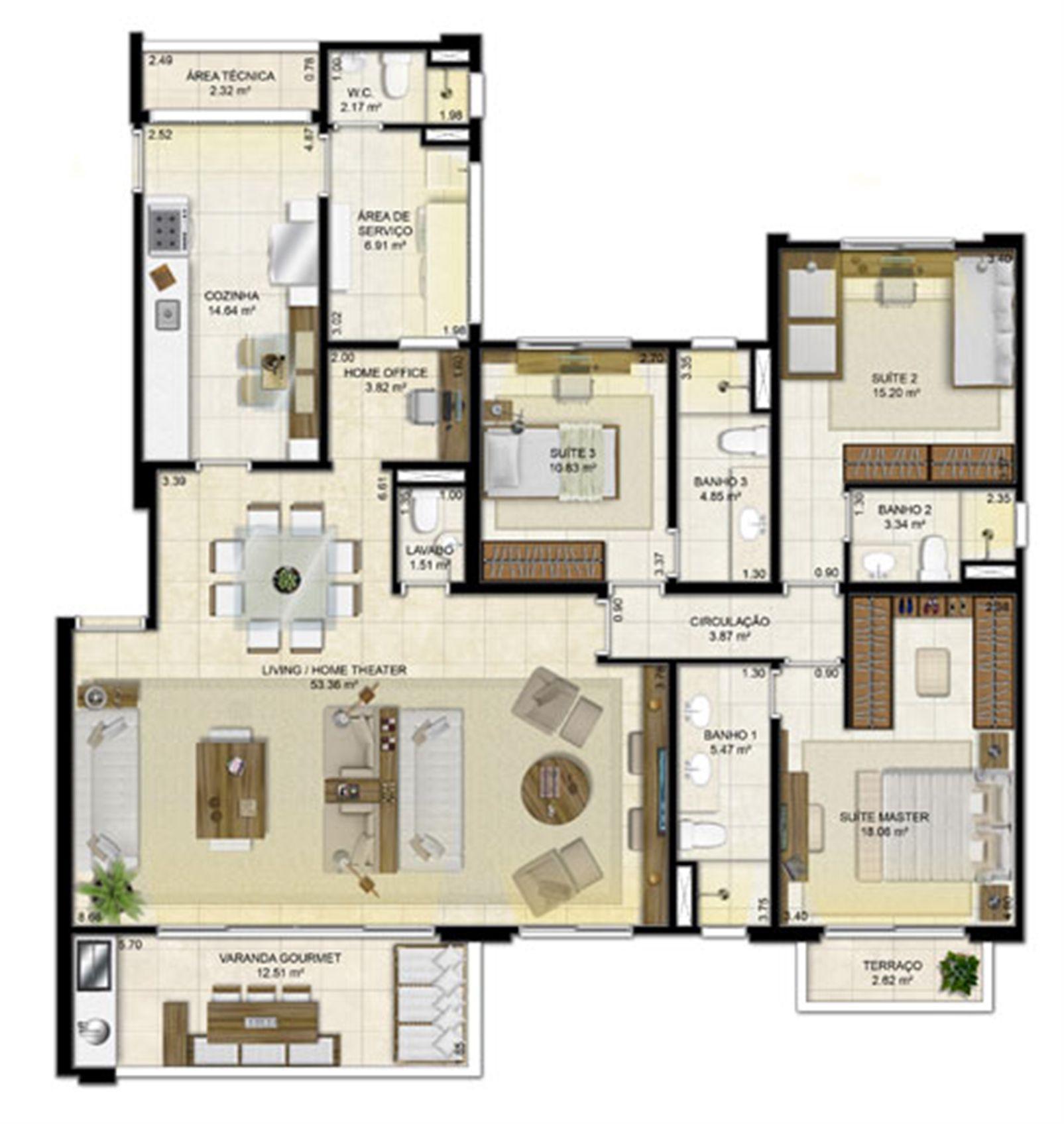 3 suítes (living ampliado) - 161 m² | Peninsula Way - Ponta D´Areia – Apartamentona  Ponta D'areia - São Luís - Maranhão