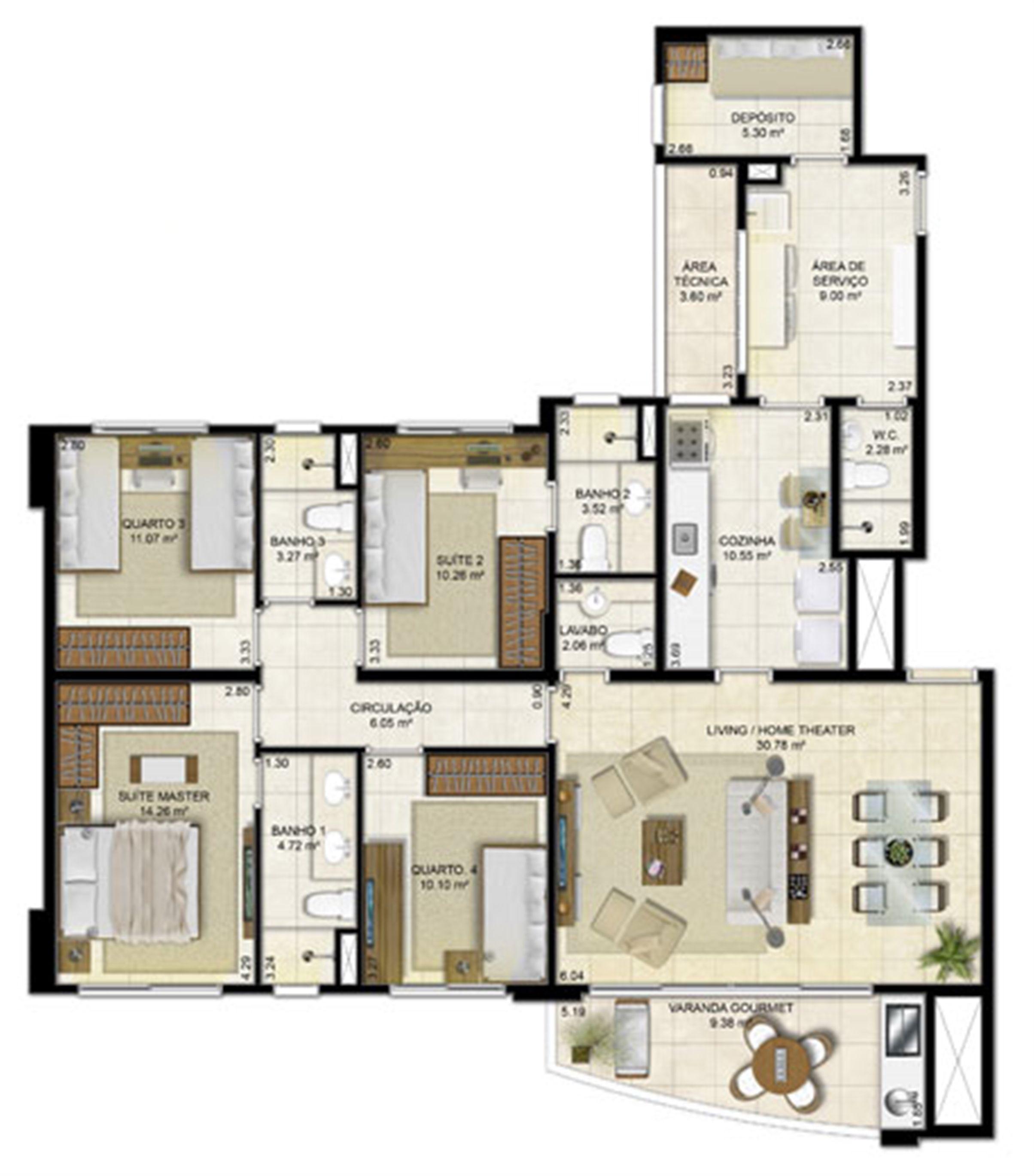 4 quartos (2 suítes) - 136 m² | Peninsula Way - Ponta D´Areia – Apartamento na  Ponta D'areia - São Luís - Maranhão