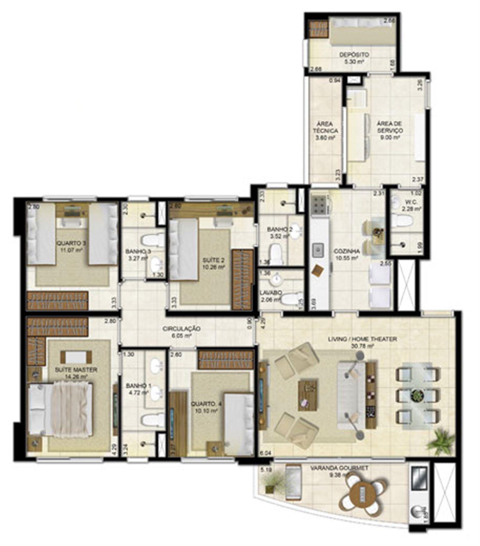 4 quartos (2 suítes) - 136 m² | Peninsula Way - Ponta D´Areia – Apartamentona  Ponta D'areia - São Luís - Maranhão