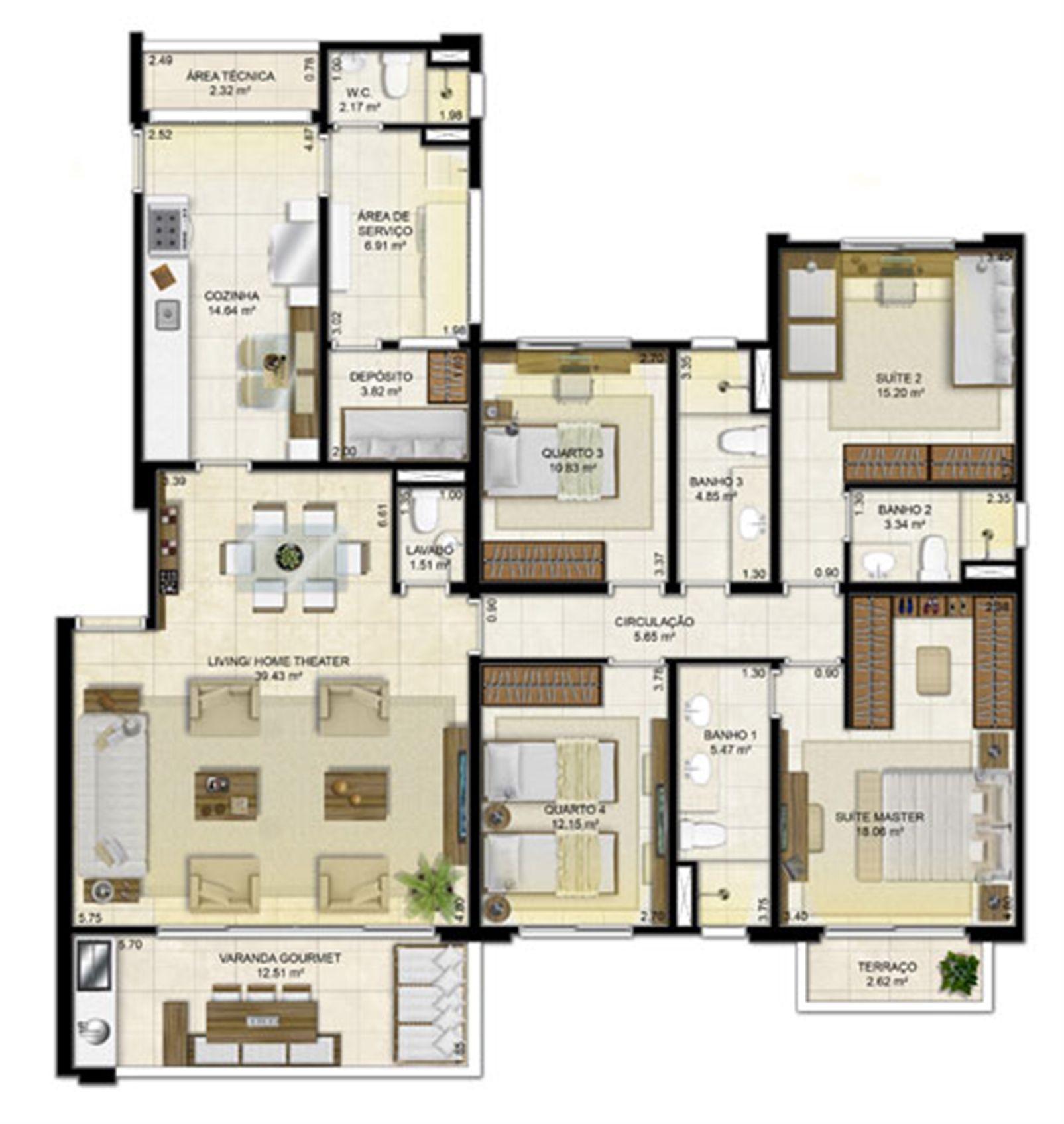 4 quartos (2 suítes) - 161 m² | Peninsula Way - Ponta D´Areia – Apartamentona  Ponta D'areia - São Luís - Maranhão
