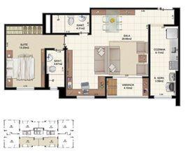 Planta Tipo 2 quartos - 64,70 m² | Morada Alto do Imbuí – Apartamento no  Alto do Imbuí - Salvador - Bahia