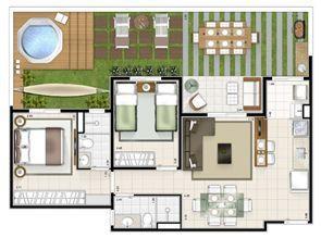 Planta giardino 2 quartos 87m² | Sttilo Clube Residence – Apartamento na  Nova Parnamirim - Parnamirim - Rio Grande do Norte
