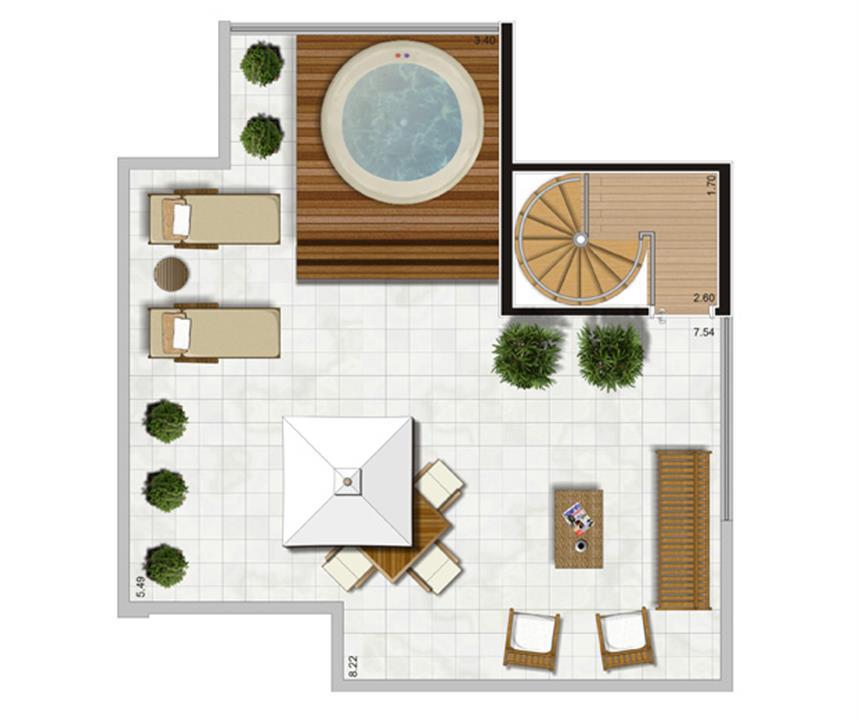 Planta Duplex Superior - 116,5m² Privativos | Andalus by Cyrela – Apartamentono  Morumbi - São Paulo - São Paulo