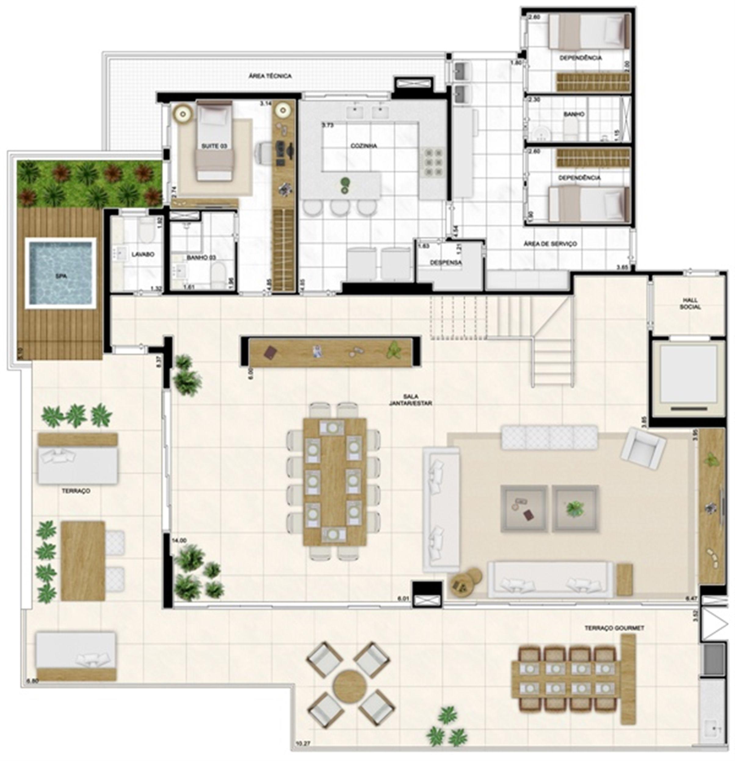 Planta Duplex Inferior 422m² | Infinity Areia Preta – Apartamento na  Areia Preta - Natal - Rio Grande do Norte