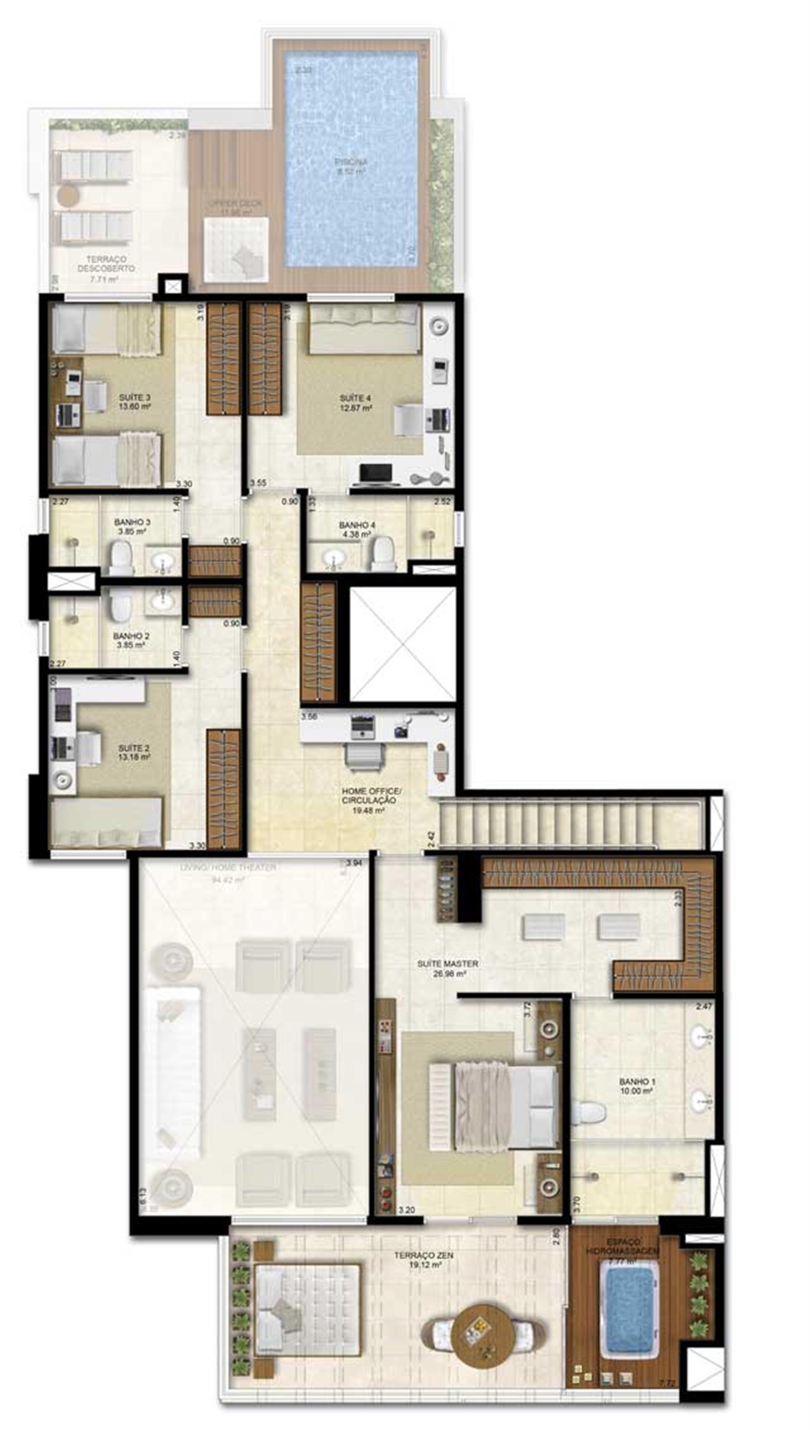 Opção 2 - duplex - 330 m² de área privativa | Vitrine Umarizal – Apartamentoem  Umarizal  - Belém - Pará