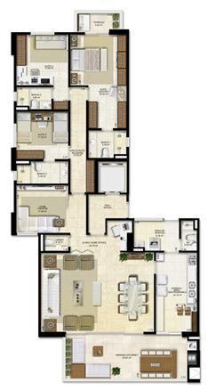 Opção de planta com 3 suítes e homme office   183 m² de área privativa | Vitrine Umarizal – Apartamento em  Umarizal  - Belém - Pará