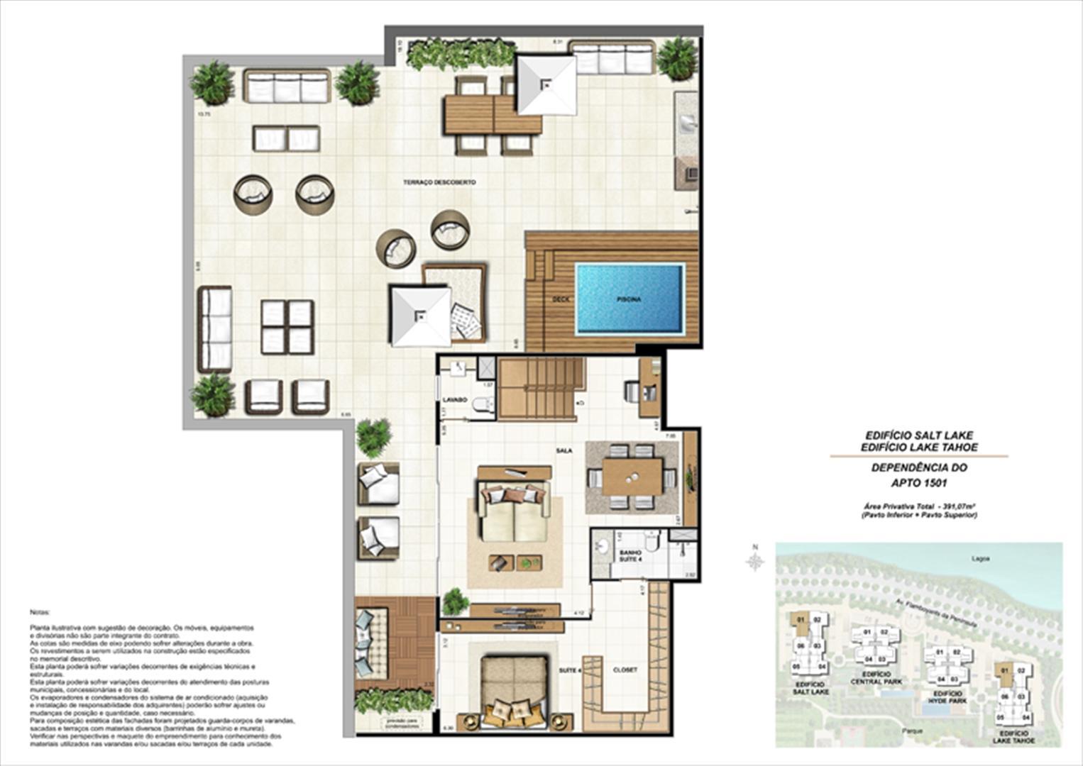 Ed. Salt Lake e Ed. Lake Tahoe - Cob. 391 m² (duplex - pav. superior) | 360º On The Park – Apartamento na  Barra da Tijuca - Rio de Janeiro - Rio de Janeiro