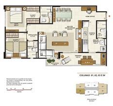 Planta opção sala ampliada 86 m² | Jardim de Provence – Apartamento em  Altos do Calhau - São Luís - Maranhão