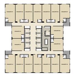 Planta Tipo 2º ao 23º andar | Mirai – Salas Comerciais em  Umarizal  - Belém - Pará