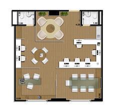 Sugestão de planta sala comercial 70 m²   junção de 2 salas | Mirai – Salas Comerciais em  Umarizal  - Belém - Pará